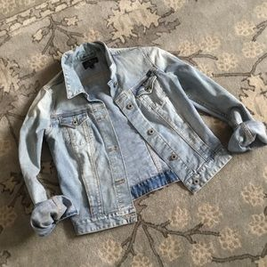 Lucky Brand Denim Jacket with Embroidered Back